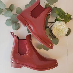 Natica Red Rubber waterproof rain  boots size 9